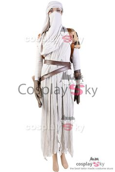 Star Wars VII The Force Awakens Rey Cosplay Costume_4