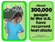 About people in the U.S have recurrent heart attacks. Heart Disease Facts, Dental Scrubs, Same Day Delivery Service, Heart Month, People In The Us, Lab Coats, Nursing Dress, Wear Red, Heart Attack