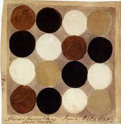 Sonia Delaunay (Gradiesk, Ukraine 1885 - Paris 1979) Simultaneous tissue , 1925, gouache on paper.