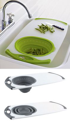 An All-In-One Over-the-Sink Cutting Board