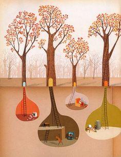 by Oliver Jeffers from picture book The Great Paper Caper Art And Illustration, Illustration Children, Oliver Jeffers, Grafik Design, Art Plastique, Beautiful Creatures, Illustrators, Cool Art, Artwork