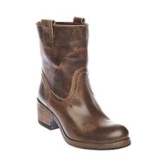 SONNNY BROWN LEATHER women's bootie flat casual - Steve Madden