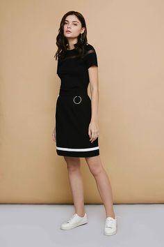 Affordable Fashion, High Neck Dress, Shirt Dress, Woman, Fall, Shirts, Clothes, Dresses, Turtleneck Dress