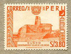Peru Stamp 1952 - Inca Observatory