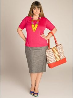 Love Pink and Grey combo- Plus Size Separates