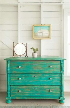 Painted Furniture Idea! Gorgeous dresser makeover.