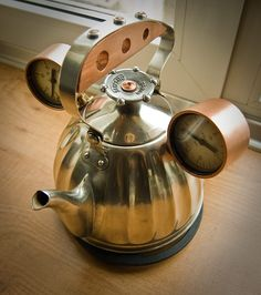 Steampunk tea pot