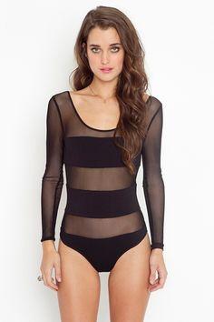 e6535759dd Stripe Mesh Bodysuit in Clothes at Nasty Gal