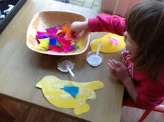 It was the Big Garden Birdwatch here in England last week, so we were busy with lots of 'bird' related activities. I've already sha. Eyfs Activities, Spring Activities, Creative Activities, Preschool Activities, Preschool Lessons, Preschool Themes, Preschool Crafts, School Play, Tot School