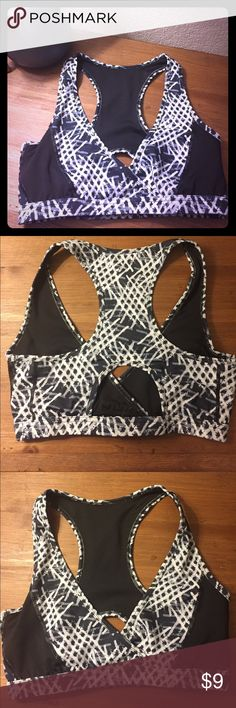 Mono B deep V sports bra with cutout racer back In great condition; very supportive - deep V cut mono b Intimates & Sleepwear Bras