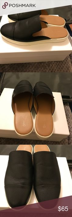 Calvin Klein leather mules Worn twice. In excellent condition. Size 10 Calvin Klein Shoes Mules & Clogs