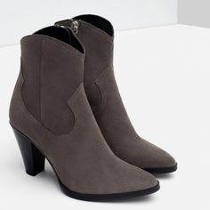 """Zara Leather Boots Genuine leather. 3"""" heel. Euro size 42. Zara Shoes Ankle Boots & Booties"""