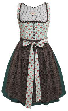 Damen Dirndl Kleid romantischer Stil mit Blümchen Rosen und Trachten Look neu von mein herzblut im mein herzblut shop