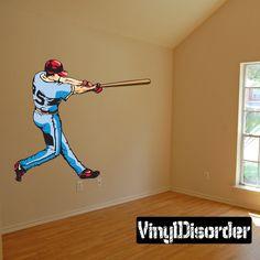 Baseball Wall Decal - Vinyl Sticker - Car Sticker - Die Cut Sticker - CDScolor184