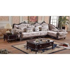 Meridian Furniture Inc Valentino 3 Piece Sectional Sofa with Pillows - 697-SECTIONAL