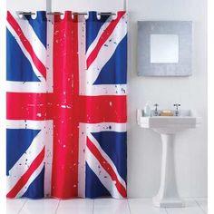 Cortina Para Baño Bandera Inglaterra