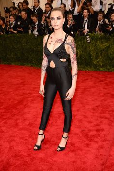 LuckyShops.com - See Every Last Look From The Met Gala Red Carpet! - Cara Delevingne In Stella McCartney - Wow