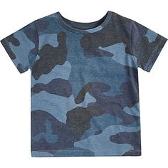 Mini boys blue camouflage print t-shirt £7.00
