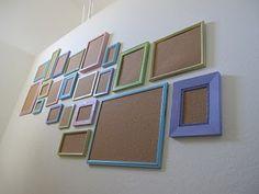Displaying kids artwork, artwork display, collage frames, frames on wall,. Displaying Kids Artwork, Artwork Display, Collage Frames, Frames On Wall, Wood Frames, Make A Photo Collage, Colorful Frames, Childrens Artwork, Photo Craft