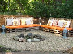 bancos para el jardín con palet
