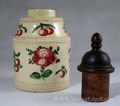 English Creamware Tea Caddy,1780