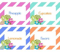 Luau Party Printables