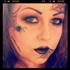 Spider Halloween makeup Jennifer Thompson MUA Instagram : MrsDagoTee