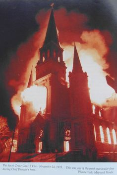 The Sacre Coeur Church on Laurier, November 1978 Photo Archive, Ottawa, Old Photos, Ontario, November, Canada, Fire, Urban, History