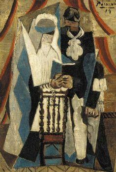 Pablo Picasso, 1919 Les communiants on ArtStack #pablo-picasso #art