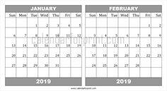 12 Best January 2019 Calendar Images
