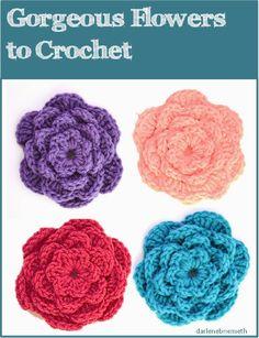 Let It Shine: Six Petal Crocheted Flower Pattern Crochet Flower Patterns, Crochet Motif, Crochet Hooks, Crochet Stitches, Crochet Puff Flower, Knitted Flowers, Yarn Crafts, Sewing Crafts, Crochet Video