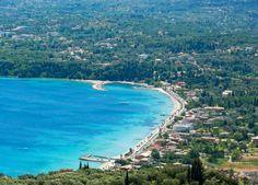Ipsos village and the beach - Corfu