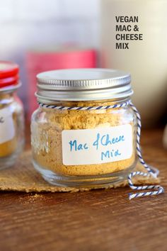 Easy Vegan Mac and Cheese Powder Mix is perfect to whip up mac and cheese within minutes when needed. It also makes a great gift! Add flavors and herbs for variations. Mac n Cheese Mix Glutenfree Nutfree Option Vegan Cheese Recipes, Vegan Mac And Cheese, Vegan Sauces, Vegan Dishes, Vegetarian Recipes, Mac Cheese, Vegan Cheese Sauce, Cheese Fruit, Dairy Free Mac And Cheese