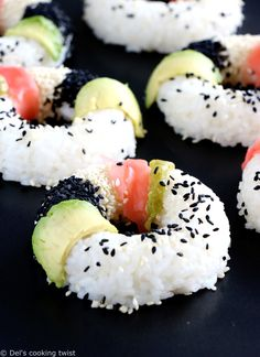 Vegan sushi donuts. Sushi donuts are the new sushi! Learn how to make them