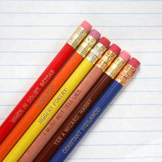Engraved Pencil Set
