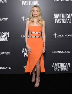 Actress Dakota Fanning arrives at the premiere of Lionsgate's 'American Pastoral' on October 13 2016 in Beverly Hills California