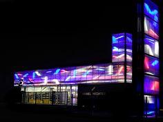 Fachada Rohde-entrepot Sautron Fachada traslúcida. Iluminacion led, luz en la arquitectura, Arquitectura traslúcida Danpalon arquitectura de luz, láminas, plásticos, policarbonato, revestimientos revestimientos plásticos