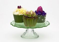 Tea Party Greeting Cards Floral Cupcakes 2