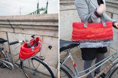 Convertible Crocheted Basket + Bag | 15 Bike Baskets and Panniers