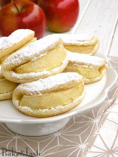 Serowe ciastka z jabłkiem (na twarogu) / całuski / usteczka
