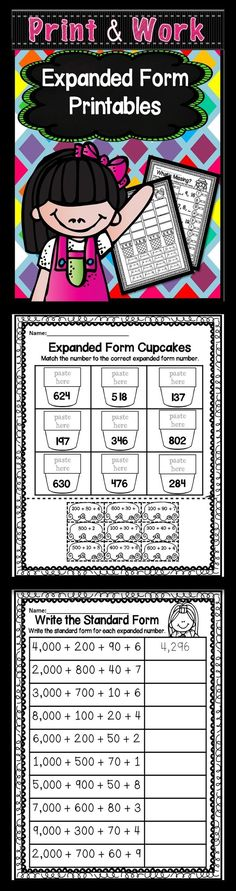 Do your students need practice learning about expanded form, then this 50 page set of Expanded, Standard, and Written Form Printables are just what you need. I have included a variety different ways for your students to get lots of practice. I have include 2, 3, and 4 digit worksheets