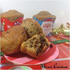 Muffins de Noël noisette cannelle chocolat Companion. Retrouvez mes recettes Companion, Cookeo, Thermomix, MD, ou sans sur mon site Mimi Cuisine