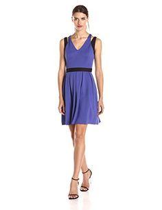 Jessica Simpson Womens Sleeveless Jacquard Printed Pleated Hem Dress