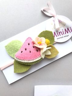 Baby Felt Headbands with fruits slices and flowers, Felt Headband, Universal headband, Expecting mom Diy Baby Headbands, Felt Headband, Handmade Headbands, Handmade Crafts, Handmade Rugs, Felt Flowers, Fabric Flowers, Fabric Flower Headbands, Needle Felting Supplies
