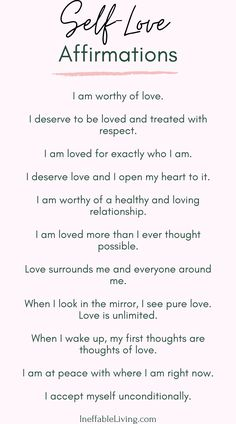 Learning To Love Yourself : 30 Day Self-Love Challenge - Ineffable Living Affirmation Quotes