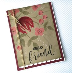 Hello! Hope your week is going well so far. It's Wednesday and time for this week's Color Throwdown Challenge .         For my card, I...