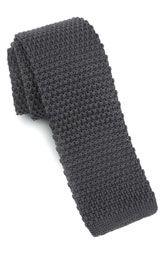 1901 Skinny Knit Tie - Grey ($40) [knit tie]