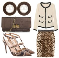 Leopard Pencil Skirt Outfits | Found on therealfashiontribes.tumblr.com