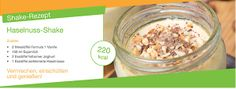 Vermischen, einschütten und genießen! Herrlicher Haselnuss-Shake Oatmeal, Breakfast, Food, Vanilla, Soy Milk, Yogurt, Healthy Recipes, Herbalife Recipes, The Oatmeal