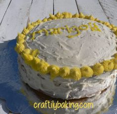 Delicious, moist starlight peanut butter cake, completed with sweet vanilla buttercream frosting. - Craftily Baking